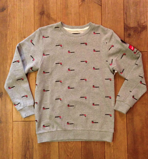 """Tobacco Pipe"" sweat jumper"